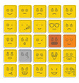 emoticon icons set doodle style vector image vector image