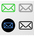 envelope eps icon with contour version vector image vector image