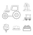 farm and agriculture sign vector image