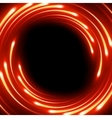 Fire blurred magic neon light curved lines EPS 10 vector image