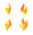fire logo icon set of four conceptual flame vector image