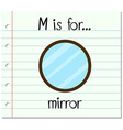Flashcard letter M is for mirror vector image vector image