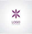 flower abstarct logo vector image
