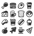 Food icon set on white background