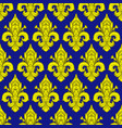 french royalty pattern vector image vector image