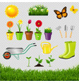 gardening tools isolated transparent background vector image