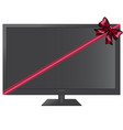 gift tv with a red ribbon vector image