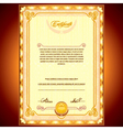 Golden Certificate Background