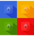 hand palm icon with long shadow vector image vector image