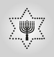 hanukkah david star jewish holiday symbol flat vector image
