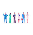 hospital healthcare staff set doctors in medical vector image
