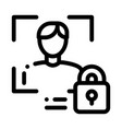 human lock security icon outline vector image vector image