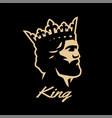 king symbol logo black white style vector image