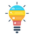 light bulb infographic modern colorful lamp vector image vector image
