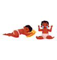 little black african american baby sleeping vector image vector image