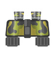 Military binoculars of camouflage color isolated vector image