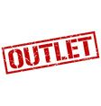outlet stamp vector image vector image