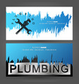 Plumbing business card concept