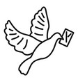 post pigeon icon outline style vector image