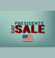 presidents day in usa washingtons birthday vector image
