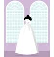 princess wedding dress on mannequin in saloon vector image vector image