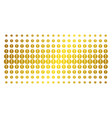 problem golden halftone effect vector image vector image