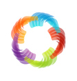 Rainbow colored floral design element or logo vector image vector image