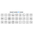 set smart home line icons internet things vector image vector image