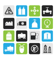 Silhouette Natural gas objects and icons vector image vector image