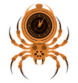 steampunk spider mechanical insect on a white vector image vector image