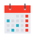 Stylish calendar vector image vector image