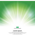 sunlight effect sparkle on green background vector image vector image