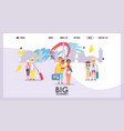 travel agency website design vector image vector image