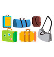 travel bag set classic retro modern vector image vector image