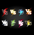 Versus or vs confrontation labels vector image