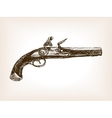 Vintage pistol sketch style vector image vector image