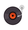 vinyl old player device vector image vector image