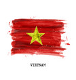 watercolor painting flag vietnam vector image vector image