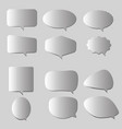 white and blank retro speech bubbles on gray vector image vector image