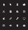 white simple flat icon set 3 vector image