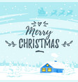 winter background with house vector image vector image