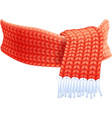 Winter Hand Knitted Scarf Flat Pictogram vector image vector image