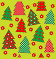 wrapping paper for your christmas seamless vector image vector image