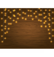 yellow LED Light Christmas Garland vector image