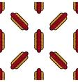 Hot Dog flat pattern vector image