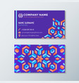 violet red orange abstract identity business card vector image