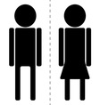 sign man woman toilet vector image