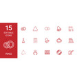 15 ring icons vector image vector image