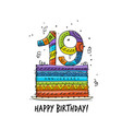 19th anniversary celebration greeting card vector image vector image