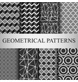 8 different classic geometric patterns vector image